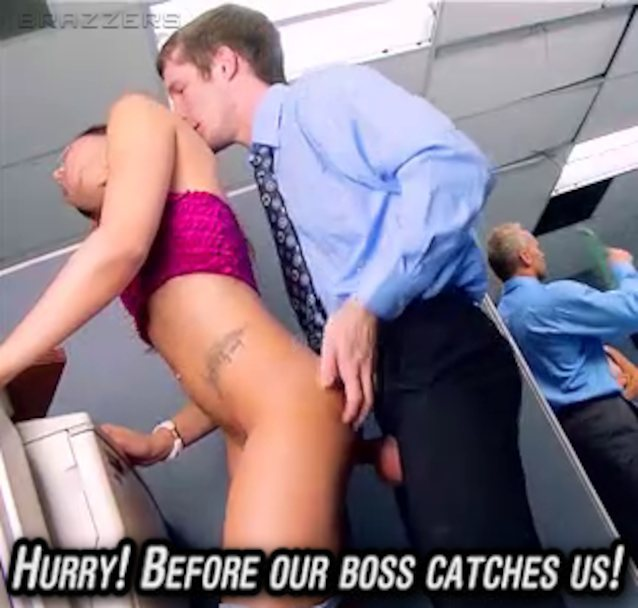 Hurry Before Our Boss Catches Us Porn Ad