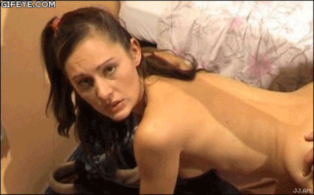 Cute candid naked surprise cum gif wife holiday sex