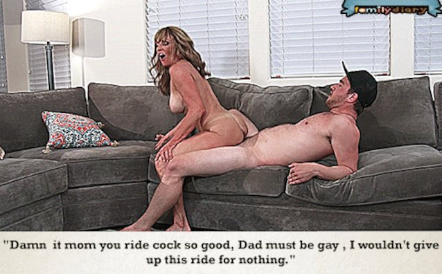 Mom rides sons cock forcing him to cum