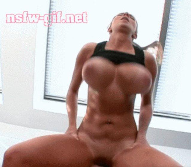 Big tits bouncing on dick