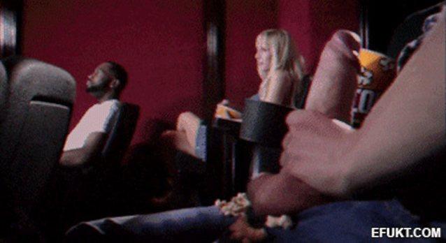 Фото куни для жены в кинотеатре