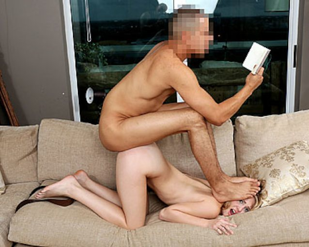 Two Brunette Teens Threesome