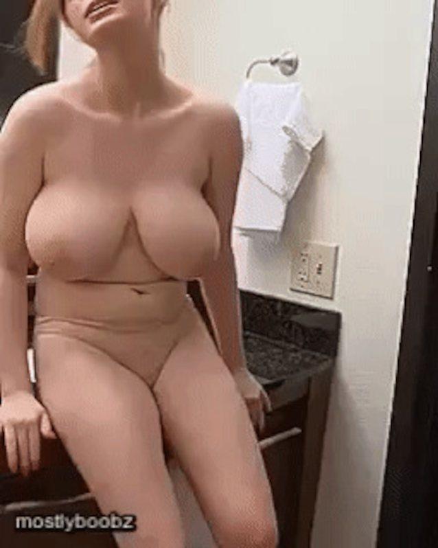 Big naked tits suck gif