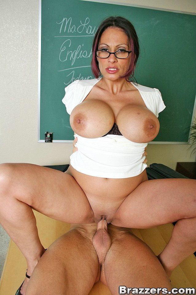 Hot big tit teacher fucked