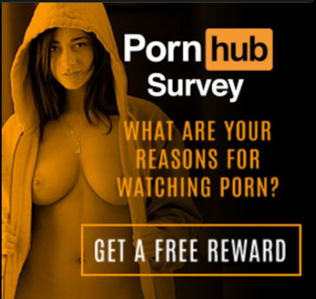 Who is the girl in this pornhub survey ad?