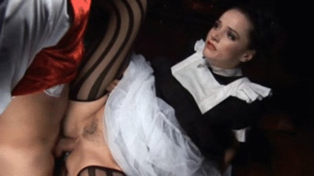 Sexy french maid nude gif