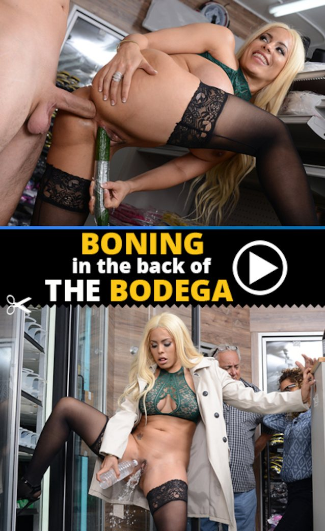 Boning in the back of the bodega