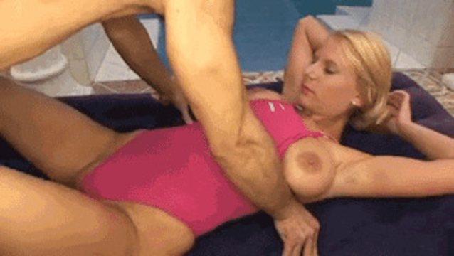 Hot blonde blonde milf doggy sex porn gif