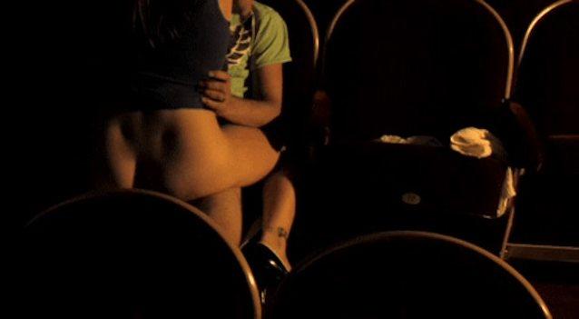 Secret blowjob in the cinema