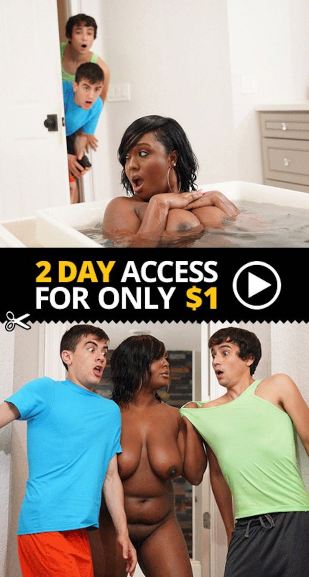 Black milf double teamed by white guys porn ad?