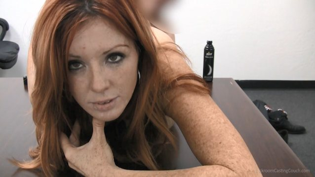 Redhead soccer mom casting couch