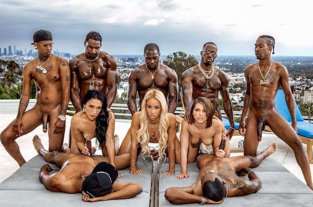 Interracial Orgy Video