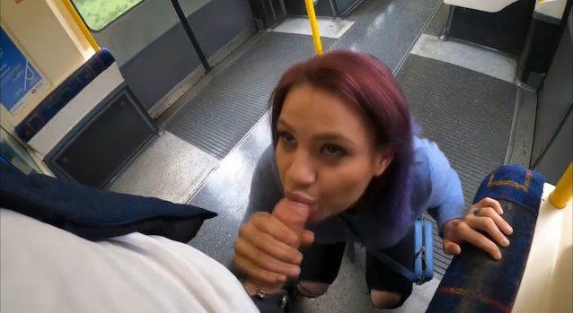 Public Blowjob Facial